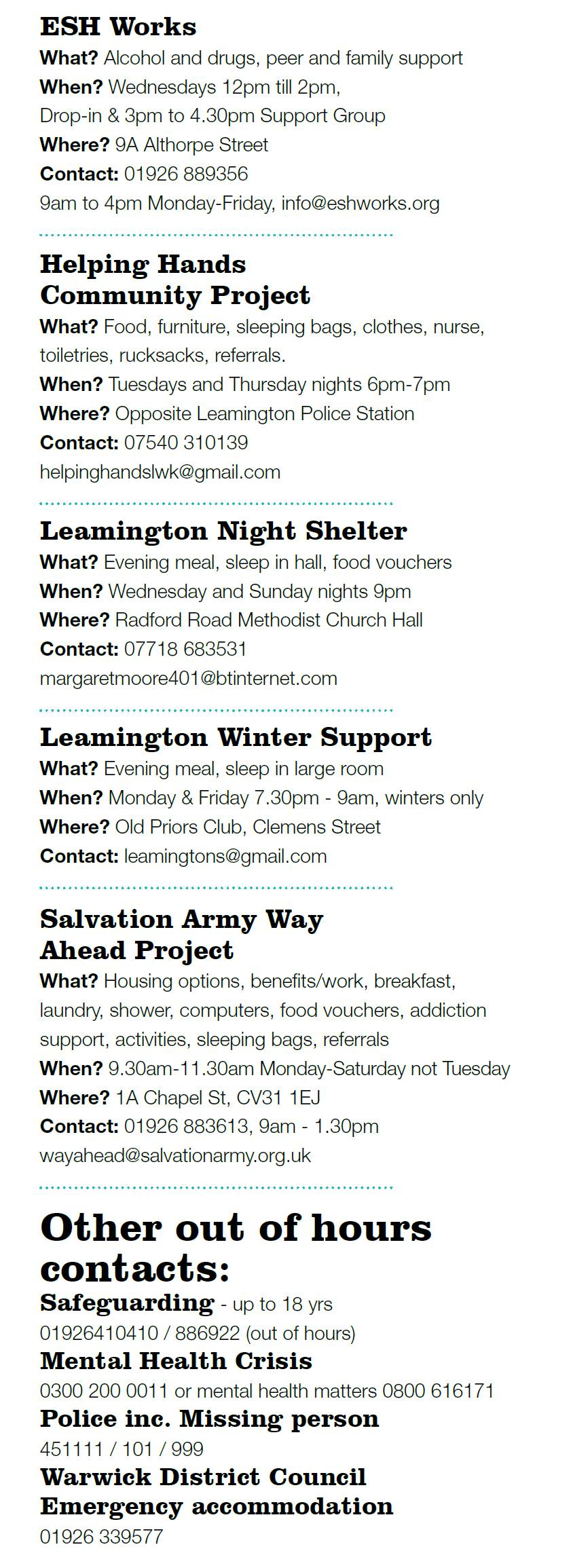 Ways to Help & Out of Hours Contact JPEG