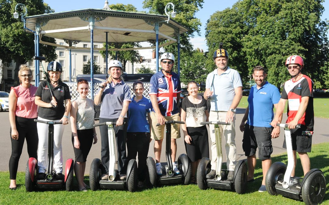 BID Meeting with a Twist – Spaghetti and Segways!