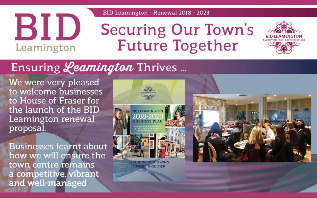 Ensuring Leamington Thrives – Ballot 2018