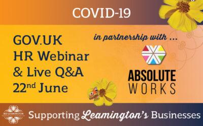 HR / Employment Law Webinar + Q&A: 22nd June