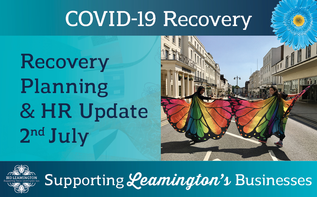 Update – HR & Hospitality, Highways, Recovery: 2nd July