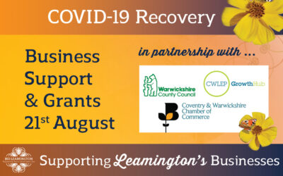Business Support, Well-being & Grants: 21st August