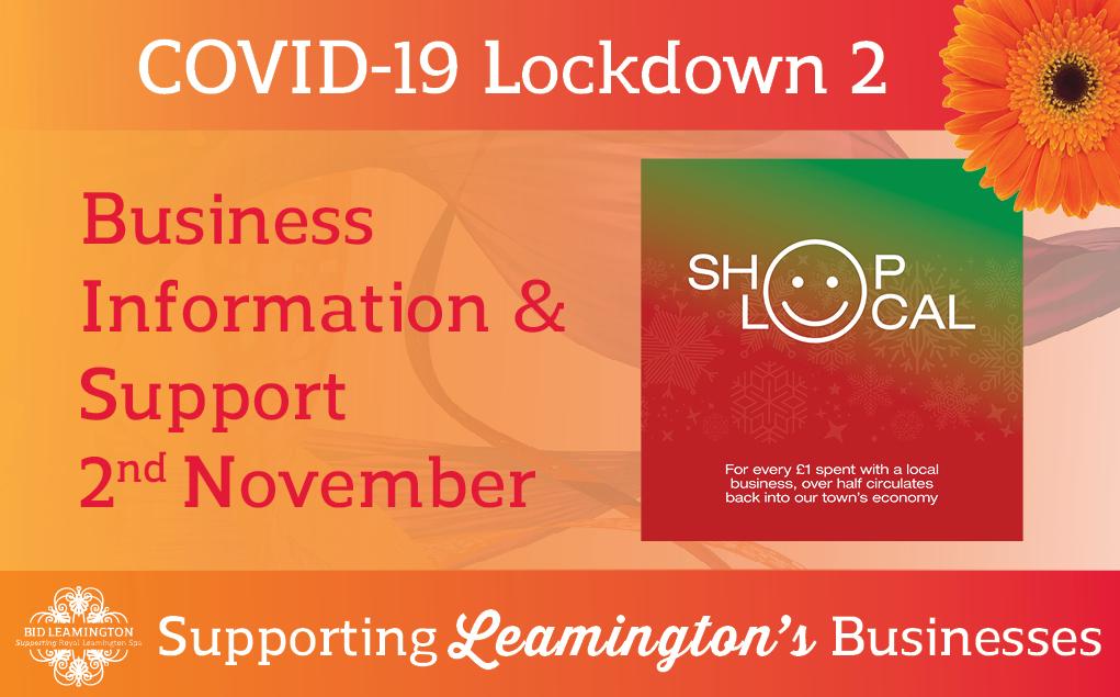 Lockdown 2 – Info, Support & Grants: 2nd November