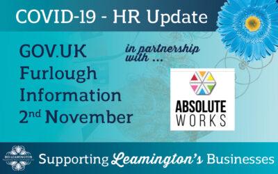 HR / Furlough Update: 2nd November