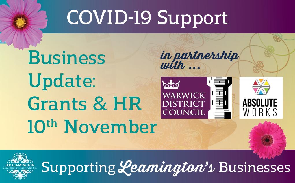Grants & HR – Important Dates: 10th November