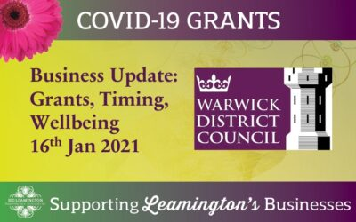 Business Update: Grants, Timing & Wellbeing